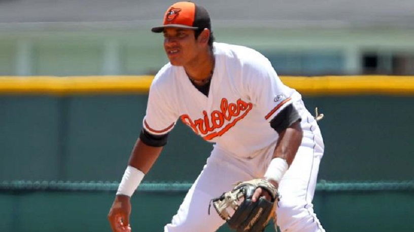Jomar Reyes, novato que firmó por us$1.1 millones con los Orioles.