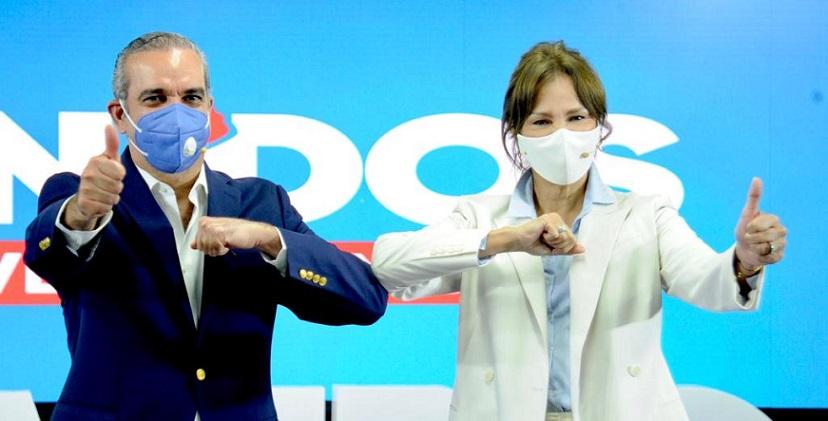 Milagros Germán apoya candidato presidencial Luis Abinader.