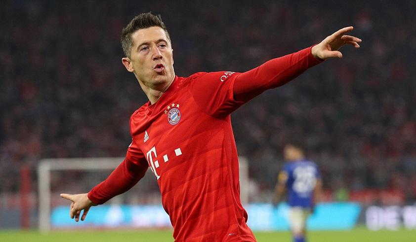 Robert Lewandowski delantero del Bayern Munich.