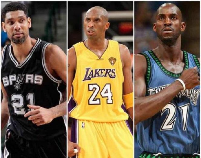 Tim Duncan, Kobe Bryant y Kevin Garnett serán parte de la clase del Salón de la Fama del 2020.