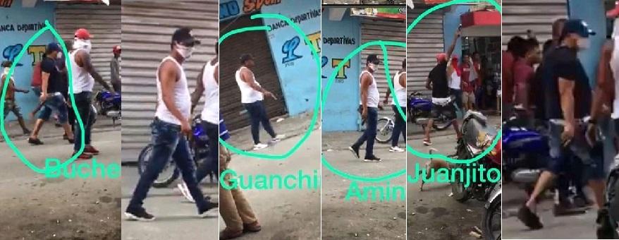 Jóvenes que alegadamente participaron en un tiroteo en el sector Capotillo. (Imágenes: Policía)
