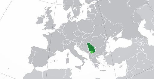 Ubicación geográfica de Montenegro en Europa.