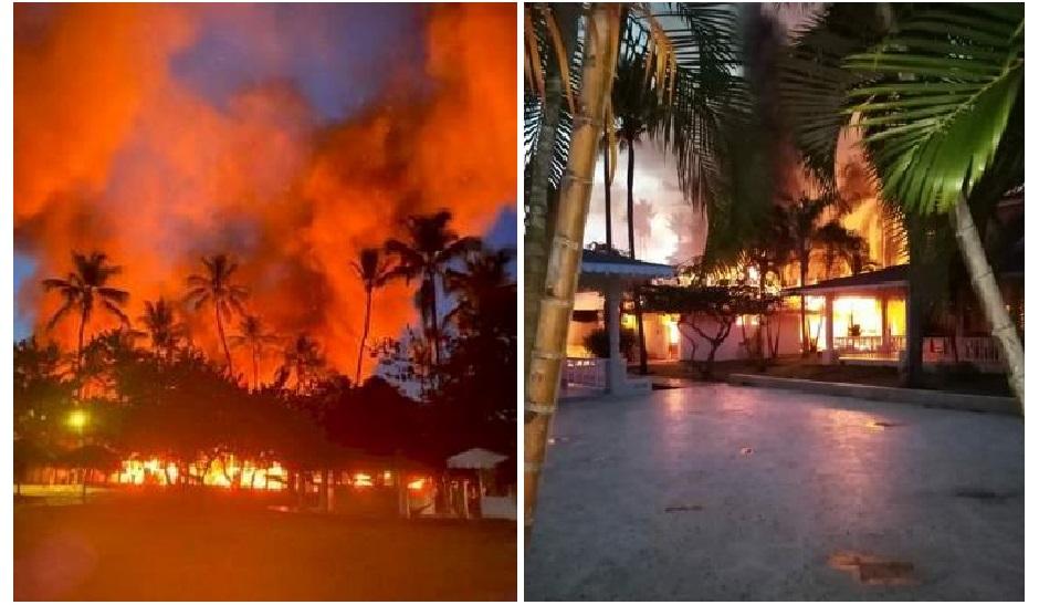 Fuego destruye parte de las instalaciones del hotel Bahía Príncipe en Samaná.