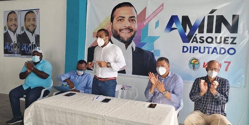 Partido Verde proclama a Amín Vásquez candidato a diputado.