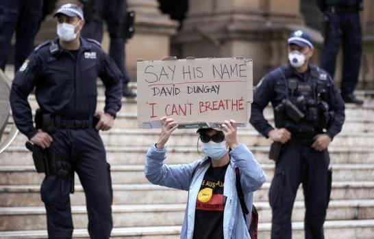 Australia congrega manifestantes de protesta Black Live Matter.