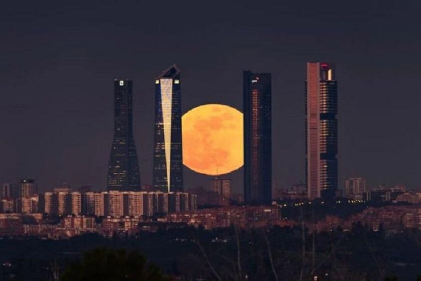 Eclipse penumbral en Madrid. (Fuente: Meteored)