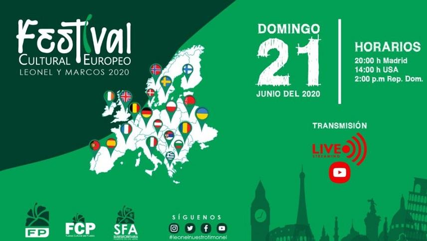 Fuerza Cultural con Leonel anuncia concierto desde Europa.
