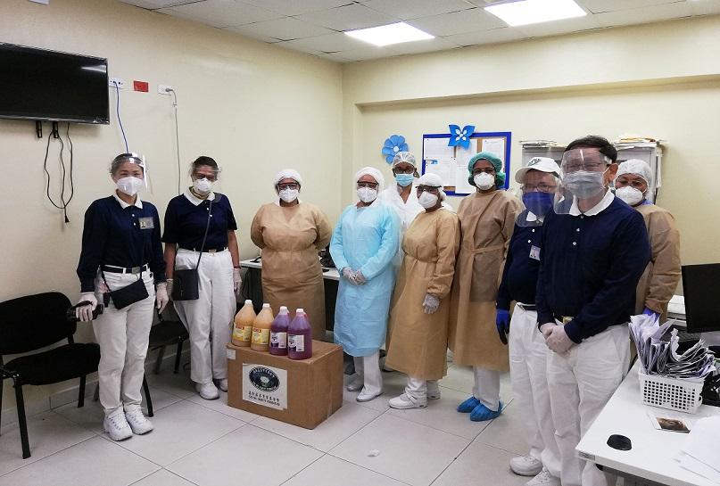 Fundación Budista Tzu Chi de Taiwán entrega ayuda a hospitales.