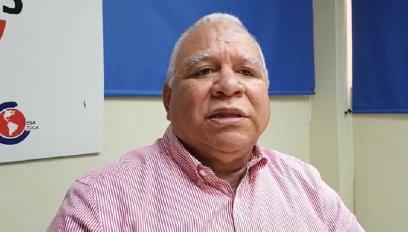 Julio César García Cruceta, secretario del Sindicato Nacional de Enfermería (SINATRAE)