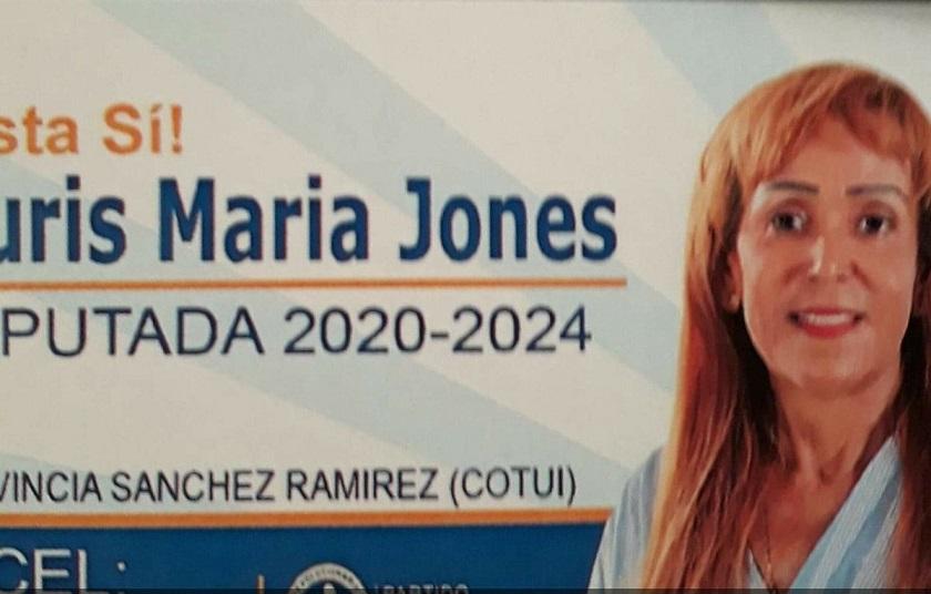 Nuris Jones candidata a diputada por el PRM.