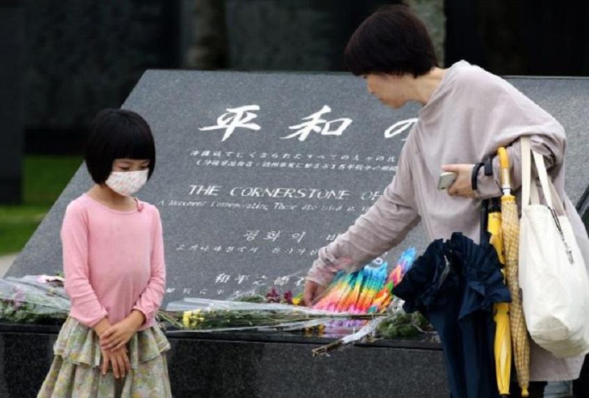 Okinawa recuerda los 75 años del final de la II Guerra Mundial.