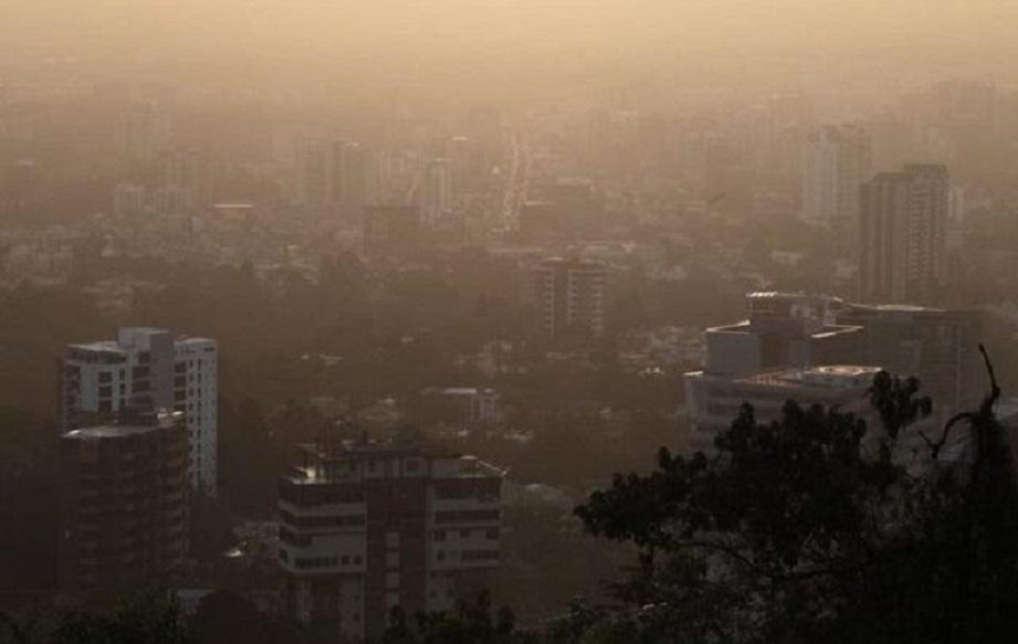 Efectos del polvo del Sahara en la capital de República Dominicana.