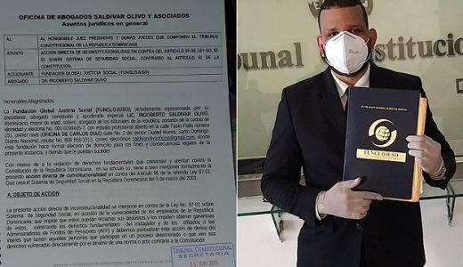Rigoberto Saldivar Olivo presidente de FUNGLOJUSO deposita recurso ante TC.