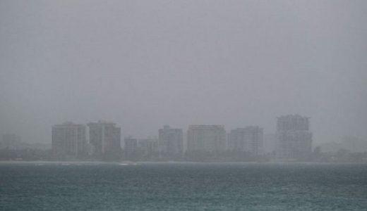 En San Juan de Puerto Rico se ha reducido la visibilidad.
