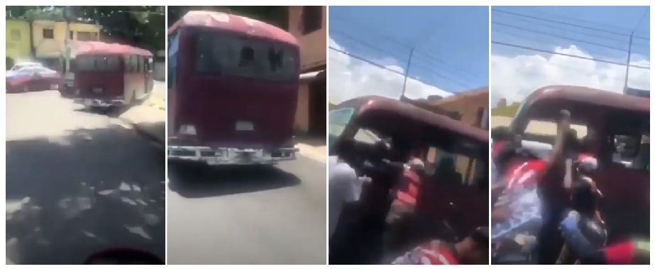 Motoconchistas apedrea y matan supuesto atracador simulaba ser chofer de autobús.