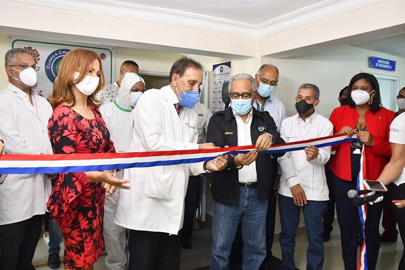 Cruz Jiminián inaugura unidad de asistencia contra coronavirus.