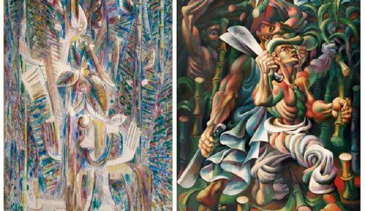 Wilfredo Lam, Omi Obini (1943) y Mario Carreño, Cortadores de Caña (1943).