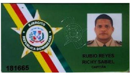 Capitán Richy Isabel Rubio Reyes.