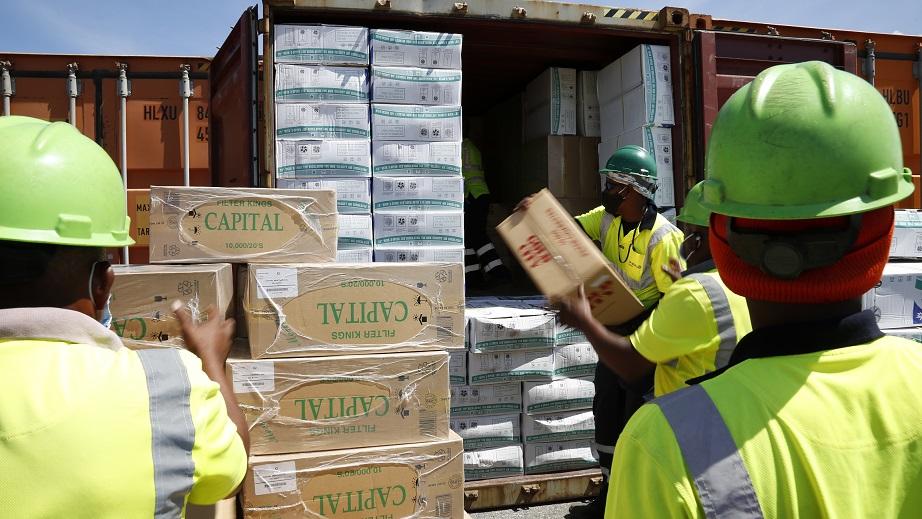 Aduanas incauta 11.3 millones de unidades de cigarrillos en Multimodal Caucedo