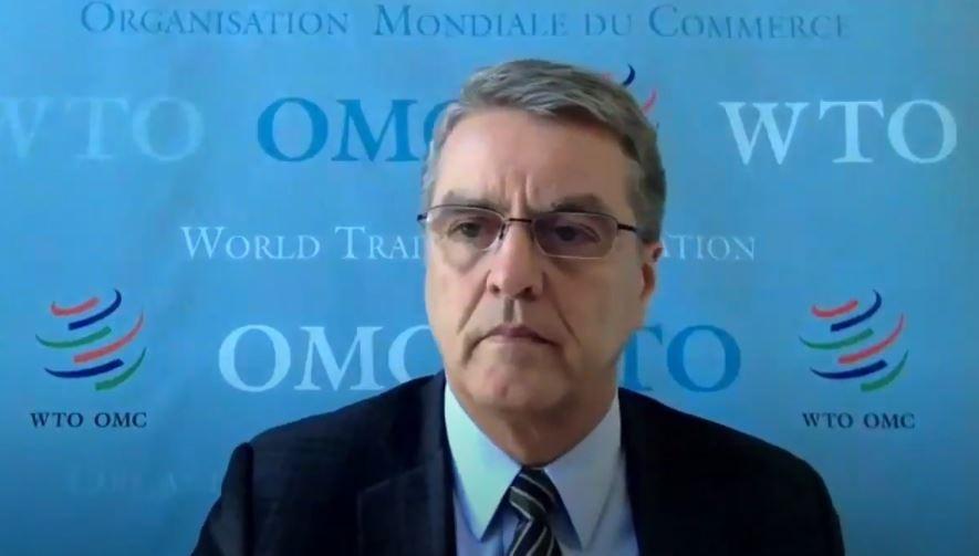El director general de la OMC Roberto Azevêdo en la video conferencia para RD.