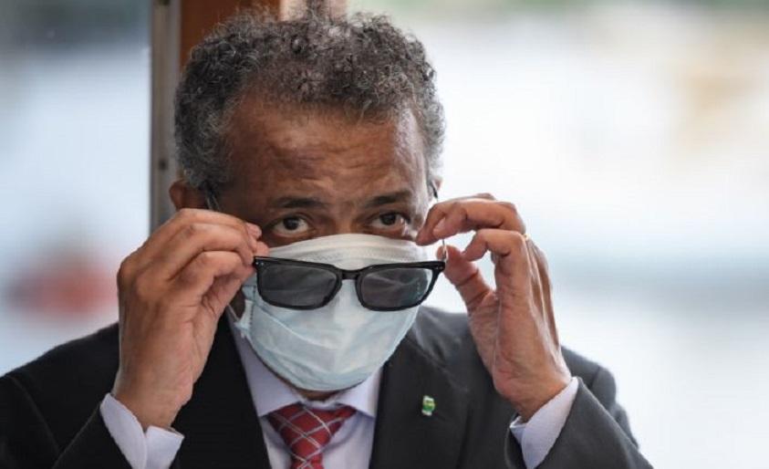 El director general de la OMS, Tedros Adhanom, en Ginebra. (Fuente. Fabrice COFFRINI / AFP)