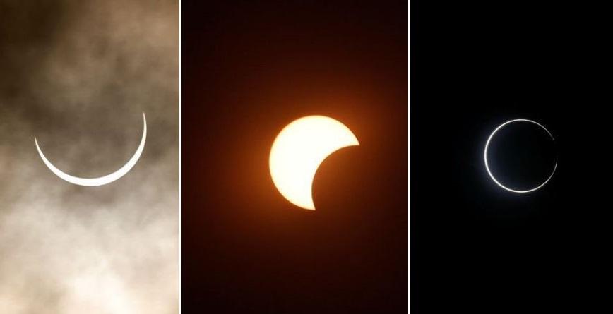 """Eclipse solar de """"anillo de fuego""""."""