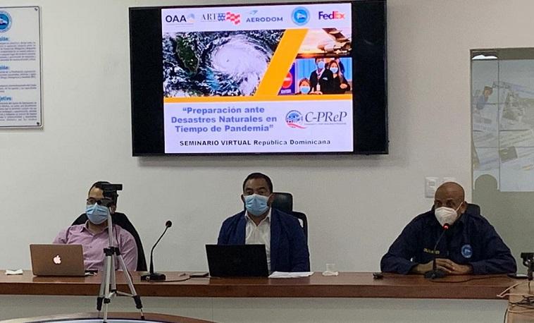 AERODOM imparte taller virtual sobre desastres naturales.