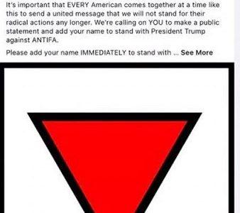 Este es el triángulo nazi compartido por Trump en su publicación.