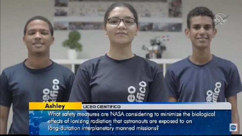 Estudiantes dominicanos conversan con astronauta de la Estación Espacial de la NASA.