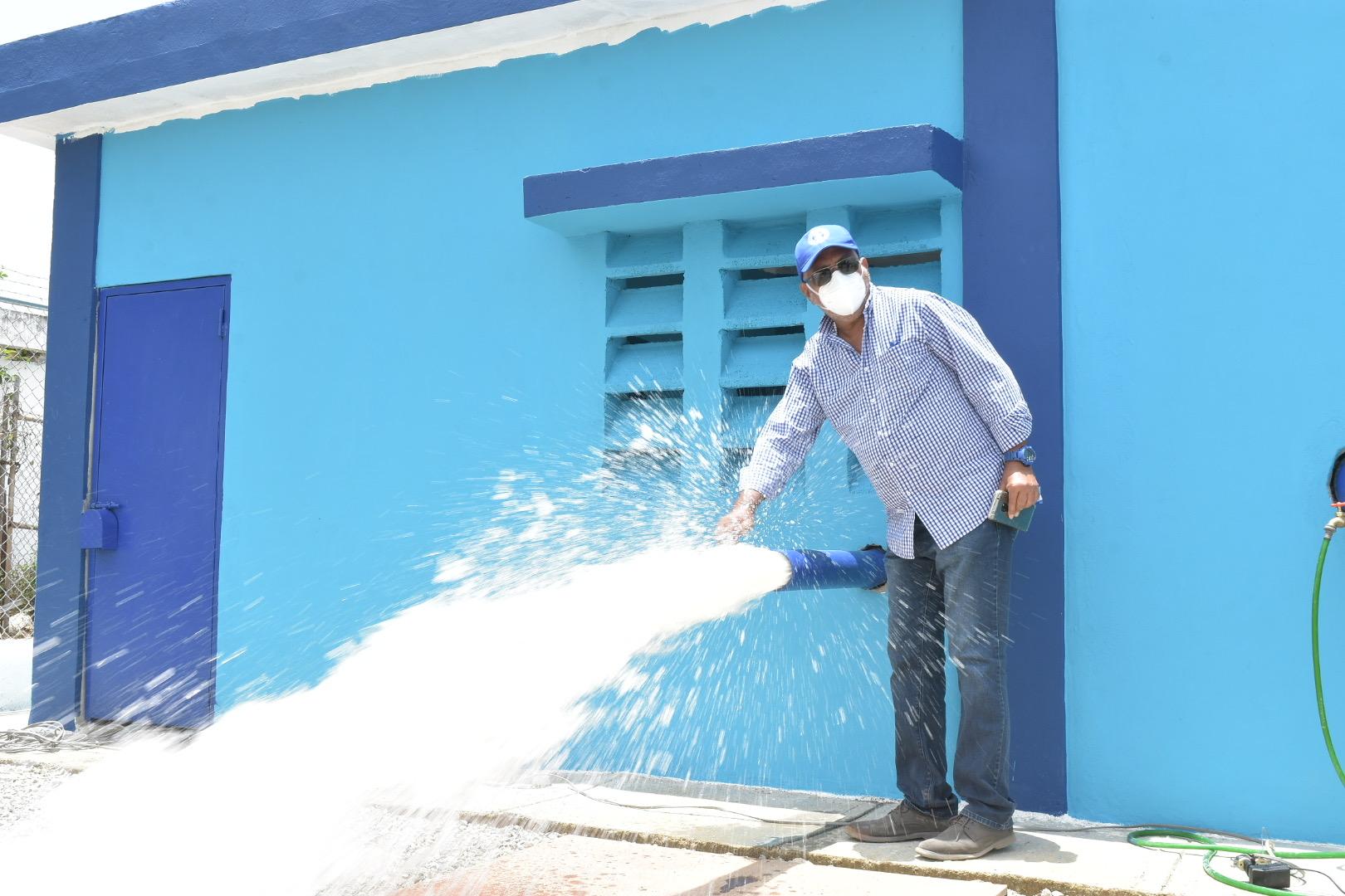 INAPA entrega nuevas obras en algunas provincias.