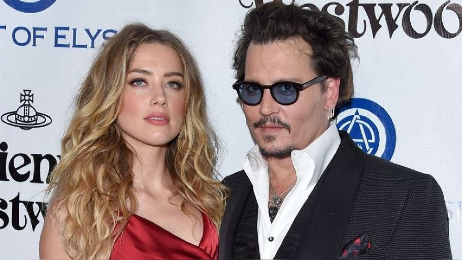 El actor Johnny Depp y su exesposa Amber Heard.