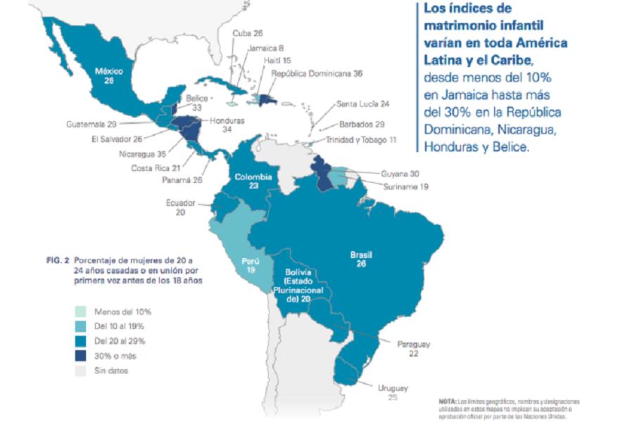 RD figura entre grupo de países de AL y el Caribe que permiten matrimonio infantil.