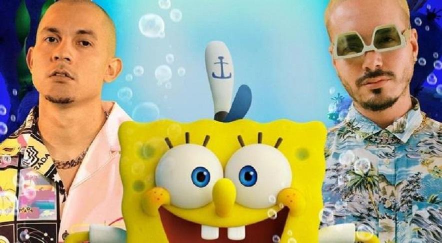 """""""SpongeBob"""" marca hito para la música latina con Tainy y J Balvin."""