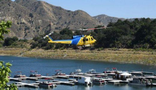 Las autoridades utilizaron helicópteros en la búsqueda de la actriz desaparecida.