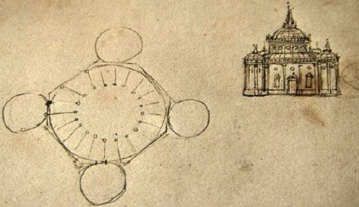 El círculo, el cuadrado y el hombre como espíritus de la realidad edificada.