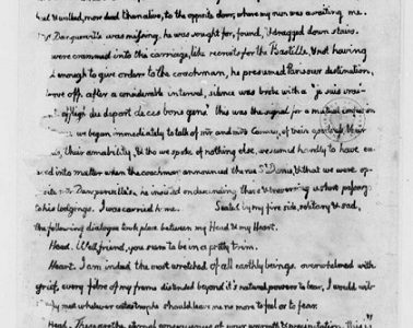 Copia de la carta de Thomas Jefferson a María Cosway que se encuentra en la Biblioteca del Congreso EE.UU. (Foto externa).