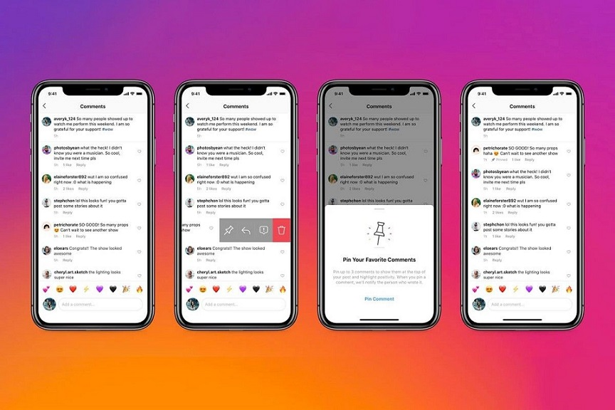 Instagram permite usuarios fijar comentarios en una publicación.