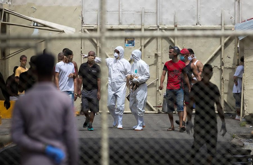 Reclusos de cárceles se recuperan del coronavirus en RD.