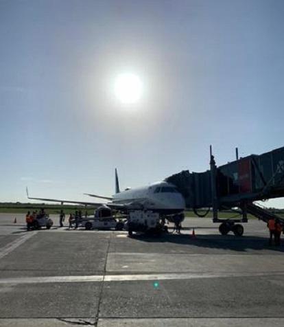Vuelo 1637 de JetBlue en el Aeropuerto Las Américas.