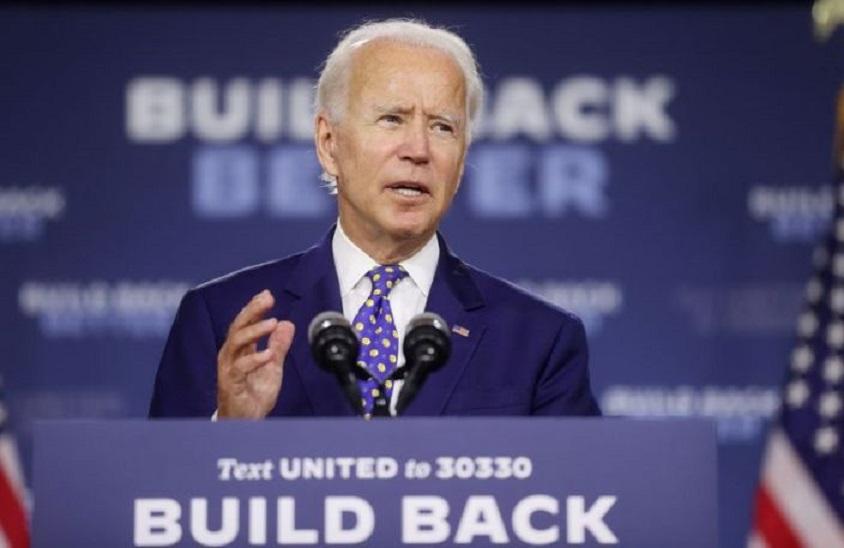 El candidato presidencial demócrata y exvicepresidente Joe Biden.