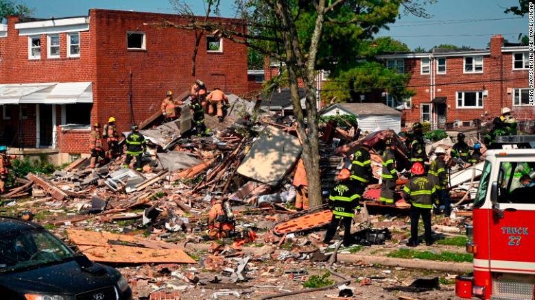 Explosión deja un muerto en Baltimore EE.UU.