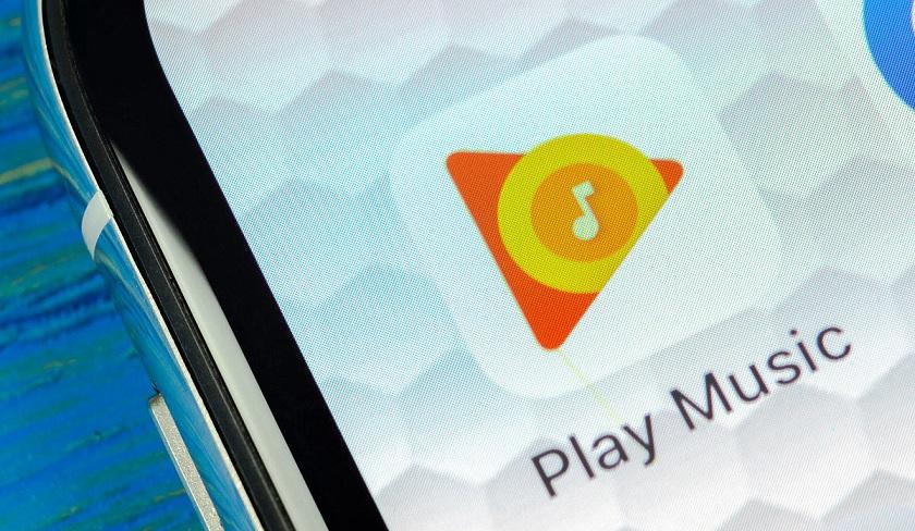 Aplicación de Google Play Música.