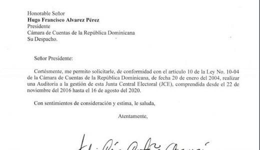 Solicitud de Castaños Guzmán a la Cámara de Cuentas.