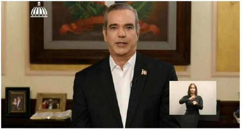 Luis Abiander, dirige discurso en primeros 30 días de su Gobierno.