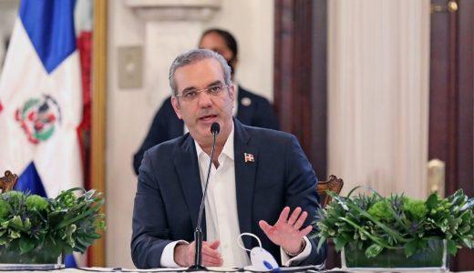 El presidente Luis Abinader en una conferencia de prensa en el Palacio Nacional. (Fuente: externa)