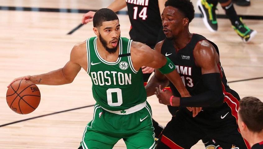 Boston gana primer partido a Miami.