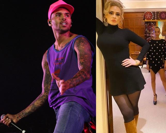 Chris Brown y Adele tendrían un romance.