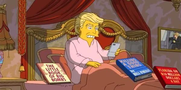 ¿Los Simpsons predijeron que Donald Trump se enfermaría de Covid-19?