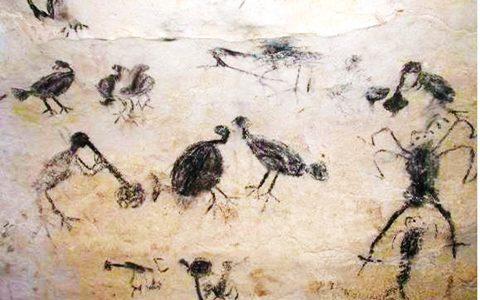 Arte rupestre que se encuentra en Cuevas del Pomier o Borbón.