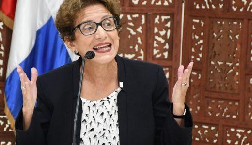 Carmen Imbert Brugal miembro del Pleno de la JCE durante entrevista ante Comisión Evaluadora del Senado.